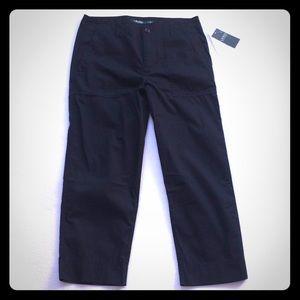 Women's Ralph Lauren black cargo cropped pants